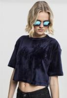 Kimono Tricou Velvet Short pentru Femei bleumarin Urban Classics