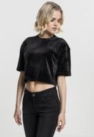 Kimono Tricou Velvet Short pentru Femei negru Urban Classics