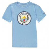 Tricouri Nike Manchester City Crest 2018 2019 Junior