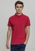 Tricou polo Garment Dye Pique rosu Urban Classics