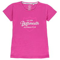 Tricouri Team Portsmouth Crest Print de fete Junior
