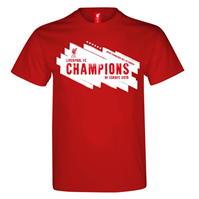 Tricouri Source Lab Liverpool Champions of Europe pentru Barbati