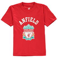 Tricouri Source Lab Liverpool FC Crest de baieti Junior