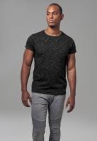 Tricou Space Dye negru-alb Urban Classics