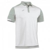 Tricouri Polo Joma Comfort alb cu maneca scurta -bumbac-