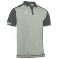 Tricouri Polo Joma Comfort gri cu maneca scurta -bumbac-