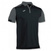 Tricouri Polo Joma Comfort negru cu maneca scurta -bumbac-