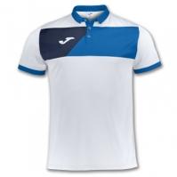 Tricou Joma sport Crew II II alb-royal cu maneca scurta