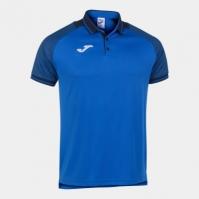 Tricouri polo Joma Essential II Royal-bleumarin inchis cu maneca scurta