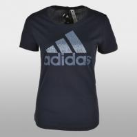 Tricouri sport Adidas Foil Text Bos Femei