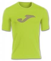 Tricouri sport Joma T- Lime-purple cu maneca scurta (jaquard)