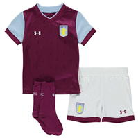 Under Armour Aston Villa Home Mini Kit 2017 2018