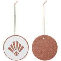 House of Fraser White And Rose Gold Glitter Deco Gift Tags
