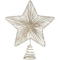 House of Fraser Champagne Glittered Star Tree Topper