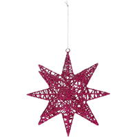 House of Fraser Hot Pink Spikey Star
