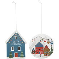 House of Fraser Snow Village Glitter Gift Tags