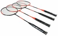 Set Badminton AXER TECHNICAL / 4 rachete + fileu + 3 fluturasi / A0104
