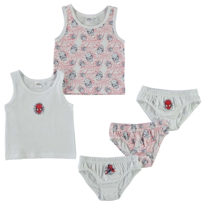 Character 5 Pack Vest and Brief Set Bebe