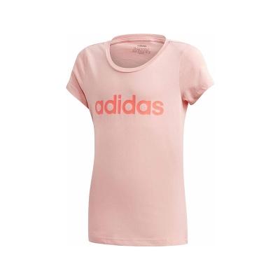 Tricou roz bumbac adidas Linear YG fete