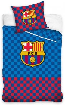 Lenjerie pat fotbal FC Barcelona bumbac 160 x 200