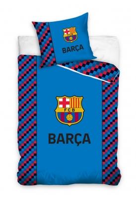 Lenjerii de pat Barcelona bumbac cu echipe fotbal 160 x 200 cm