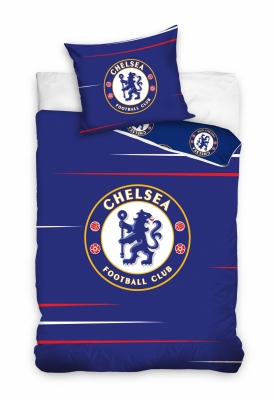 Lenjerii de pat bumbac cu echipe fotbal Chelsea 140 x 200 cm