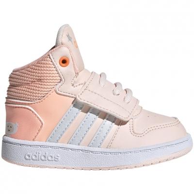 Pantofi sport adidas Hoops Mid pink 's FW4924 Copil