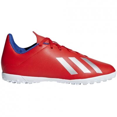 Pantofi sport Football adidas X 18.4 TF JR red BB9417