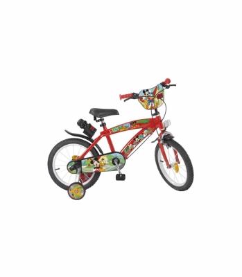 Bicicleta Copii - Baieti, Mickey Mouse, 16 Inch, 5-7 Ani, Toimsa