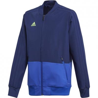 Bluze trening 's adidas Condivo 18 Presentation JKT blue CF3707 Copil adidas teamwear