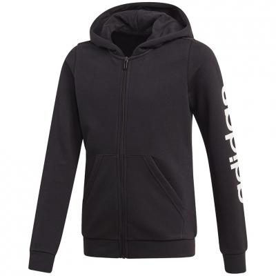 Bluze trening Hanorace cu fermoar Adidas Youth Essentials Linear black for EH6124 pentru Copil Adidas