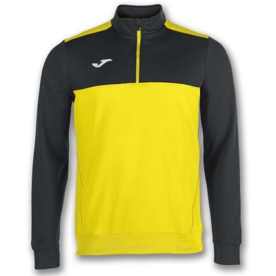 Bluze trening 1/2 Zipper Winner Yellow-black Joma