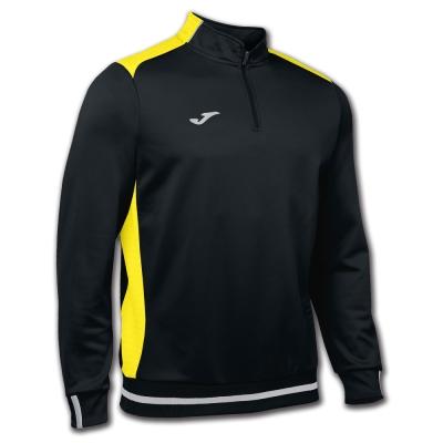 Bluze trening Campus Ii 1/2 Zipper Black-yellow Joma