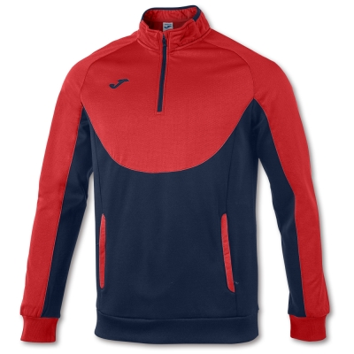 Bluze trening Essential 1/2 Zipper Red-navy Joma