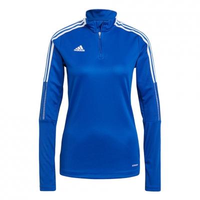 Bluze trening for adidas Tiro 21 Training Top blue GM7316 pentru Femei adidas teamwear