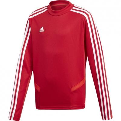 Bluze trening for boy adidas Tiro 19 Training Top JR red D95939 adidas teamwear