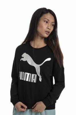 Bluza femei puma w classic logo crew negru