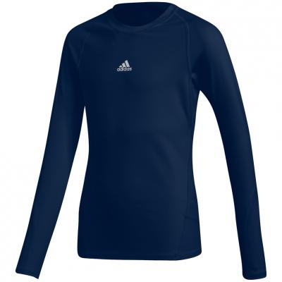 Tricouri Adidas Alphaskin Sport LS navy blue CW7322 Junior adidas teamwear