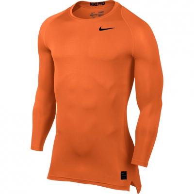 Tricouri Nike Pro Cool Compression LS Top orange 703088 815