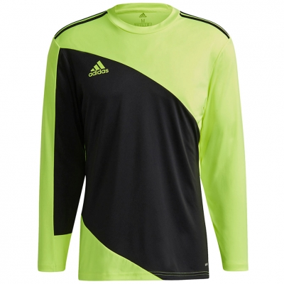 Men's Portar jersey adidas Squadra 21 Portar Jersey black and lime GN5795 adidas teamwear
