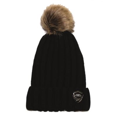 AA Platinum Wool Pom Pom Hat pentru Femei
