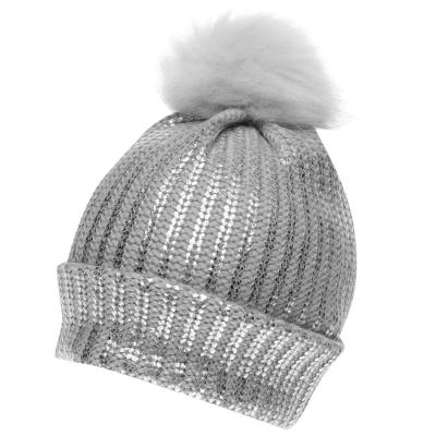 Crafted Essentials Foil Pompom Hat de fete Junior
