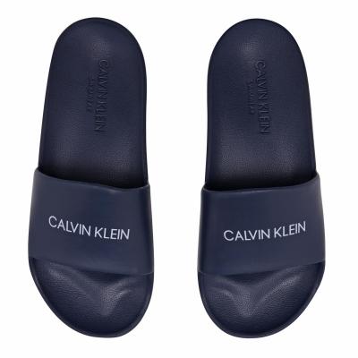 Calvin Klein Logo Slides Junior