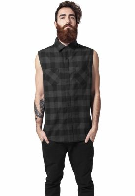 Tricou Sleeveless Checked Flanell Urban Classics