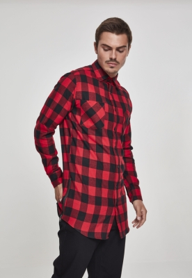 Camasa Side-Zip Long Checked Flanell Urban Classics