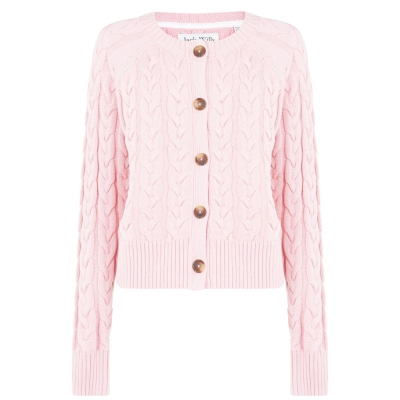 Jack Wills Westby Chunky Cable Knitted Cardigan