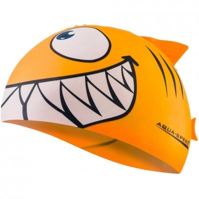 Casca inot Aqua-Speed Shark orange red 75/110