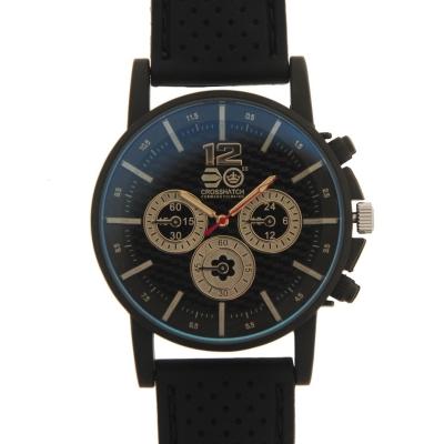 Crosshatch Chequered Rubber Strap Watch pentru Barbati