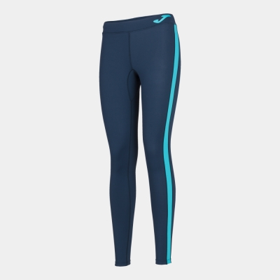 Ascona Long Tight Dark Navy-fluor Turquoise Joma