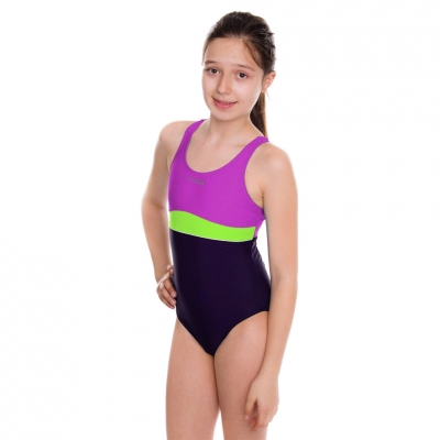 's Costume Aqua-Speed Emily violet-lime 48 367 Copil